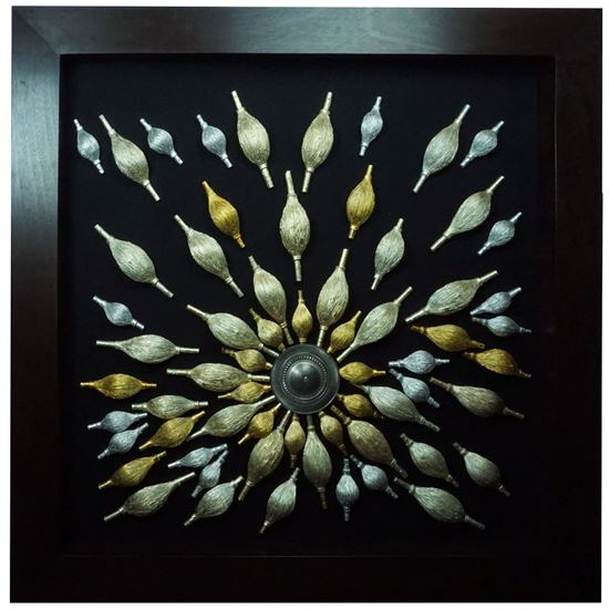 """Picture of Spindle Radius Shadow Box Wall Décor (MS24845) 47.24"""" L x 47.24"""" H"""