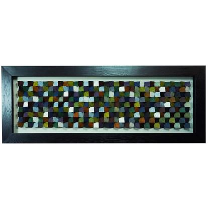 """Picture of Edges 3D Geometric Shadow Box Wall Décor (MS22717) 63.00"""" L x 23.62"""" H"""