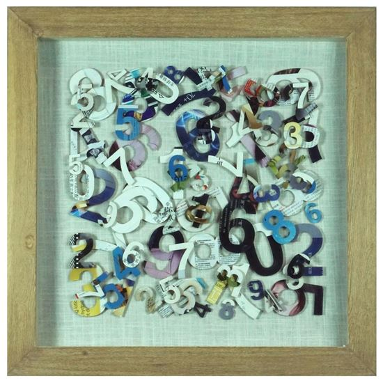 """Picture of Numbers Cutout Shadow Box Wall Décor (MS22599A) 23.62"""" L x 23.62"""" H"""