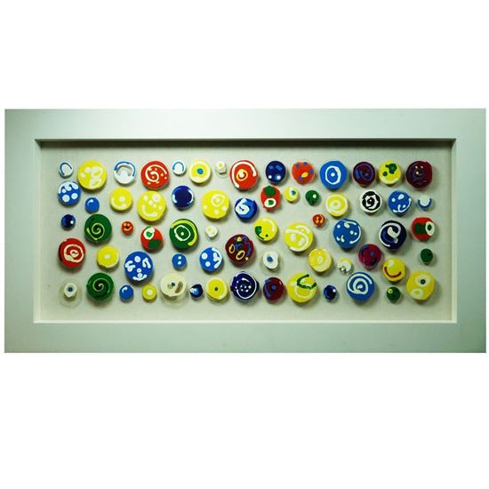 """Picture of Kids' Palette Shadow Box Wall Décor (MS22375) 62.99"""" L x 31.50"""" H"""
