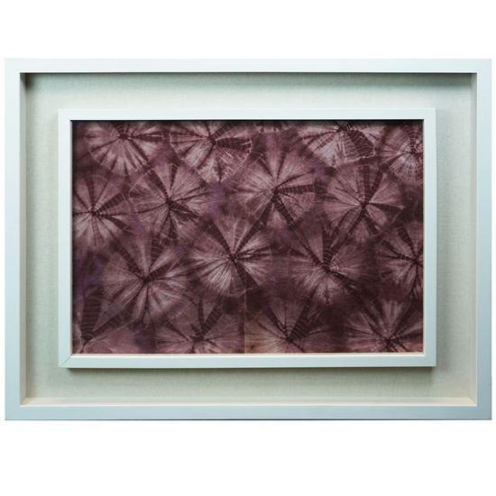 """Picture of Maroon Tie Dyed Shadow Box  (MS22320C) 27.56"""" L x 35.43"""" H"""