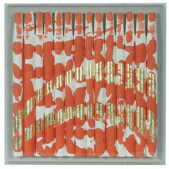 """Picture of Color Splash on Xuan Paper Shadow Box Wall Décor (Red) (MS55125B) 19.69"""" L x 19.69"""" H"""