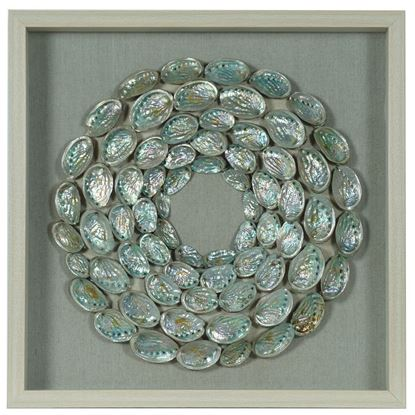 """Picture of Abalone Shell Rings Shadow Box Wall Décor (MS56027) 26.38"""" L x 26.38"""" H"""