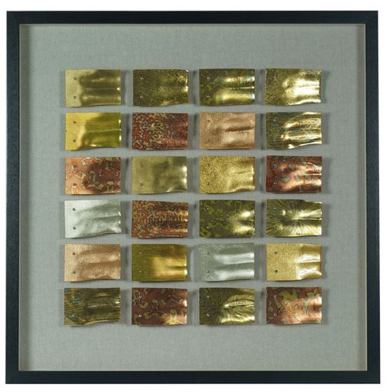 """Picture of Metal Flakes Shadow Box Wall Décor (MS56036) 35.83"""" L x 35.83"""" H"""