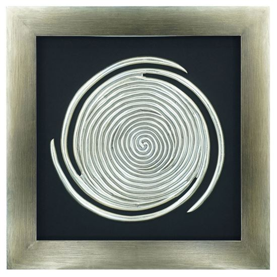 """Picture of Abstract Spiral Shadow Box Wall Décor (MS11936)  35.43"""" x 35.43"""""""
