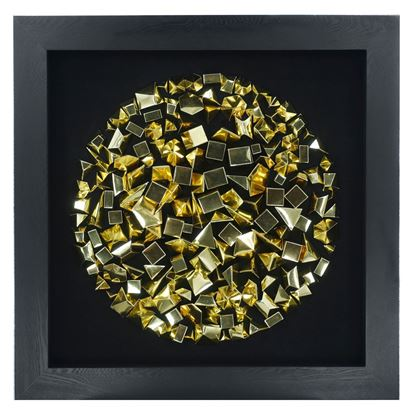 """Picture of Abstract Origami Geometry Shadow Box Wall Décor  (MS30247A) 35.43"""" x 35.43"""""""