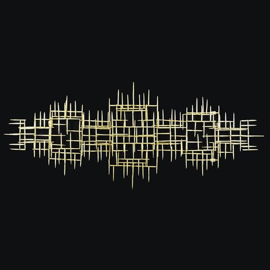 """Picture of Grand Abstract Metal Wall Décor  (MS30273) 27.56"""" x 66.93"""""""