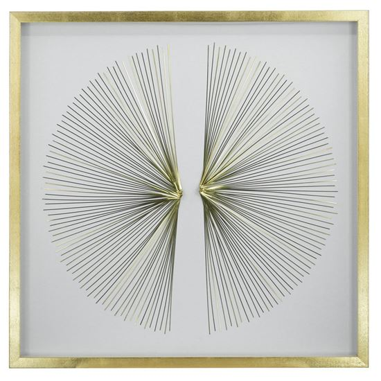 """Picture of Golden Rays Shadow Box Wall Décor (MS35307) 35.43"""" x 35.43"""""""