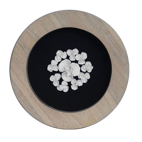 """Picture of Ceramic Flower Wall Decor (MS35791B) 11.02"""" x 11.02"""""""
