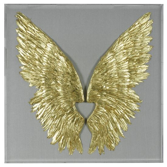 """Picture of Gold Wings Acrylic Shadow Box Wall Décor  (MS36247) 47.24"""" x 47.24"""""""