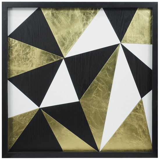 """Picture of Abstract Puzzle Shadow Box Wall Décor (MS38369A) 24.80"""" x 24.80"""""""