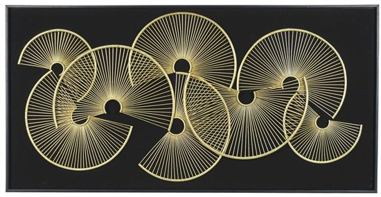 """Picture of Grand Abstract Metal Wall Décor (MS38539) 23.62"""" x 47.24"""""""
