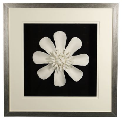 """Picture of Porcelain Flower Shadow Box Wall Décor (MS36977A) 23.62"""" L x 23.62"""" H"""