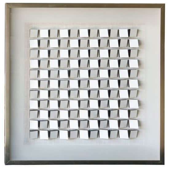 """Picture of White Abstract Geometry Shadow Box Wall Décor  (MS19367) 31.50"""" x 31.50"""""""