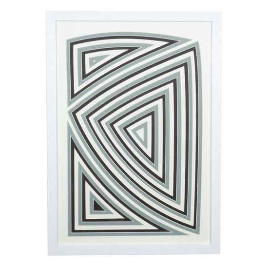 """Picture of Multi-layered Geometry Art Shadow Box Wall Décor (MS55910B)  31.89"""" L x 24.02"""" H"""